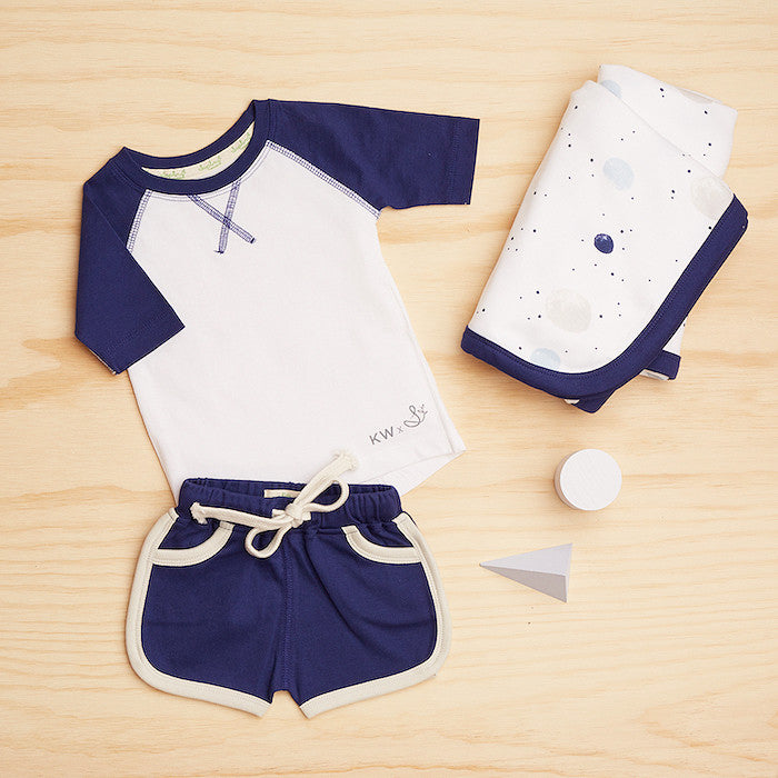 Jet Stream Blue Baby Shorts