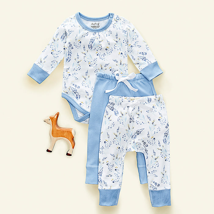 sapling meadow organic cotton pants for baby
