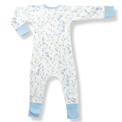 sapling meadow organic cotton zip romper for baby