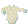 sapling baby organic cotton clothes clementine mandarin orange long sleeve bodysuit