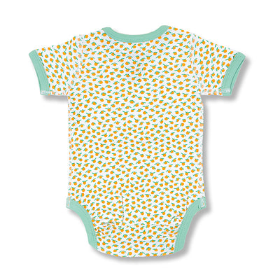sapling baby organic cotton clothes clementine mandarin orange short sleeve bodysuit