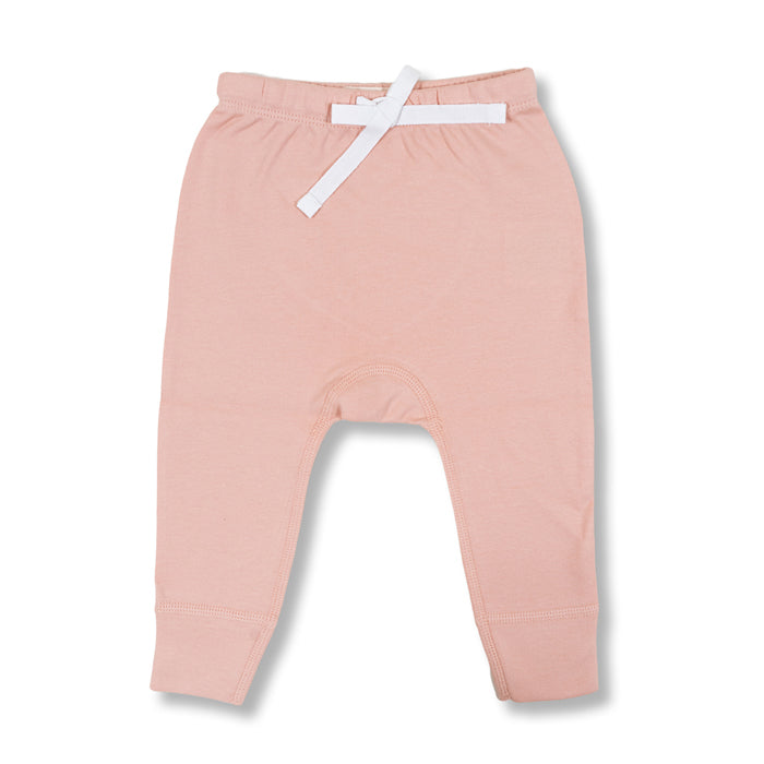 sapling baby organic cotton clothes blooming pink heart pants