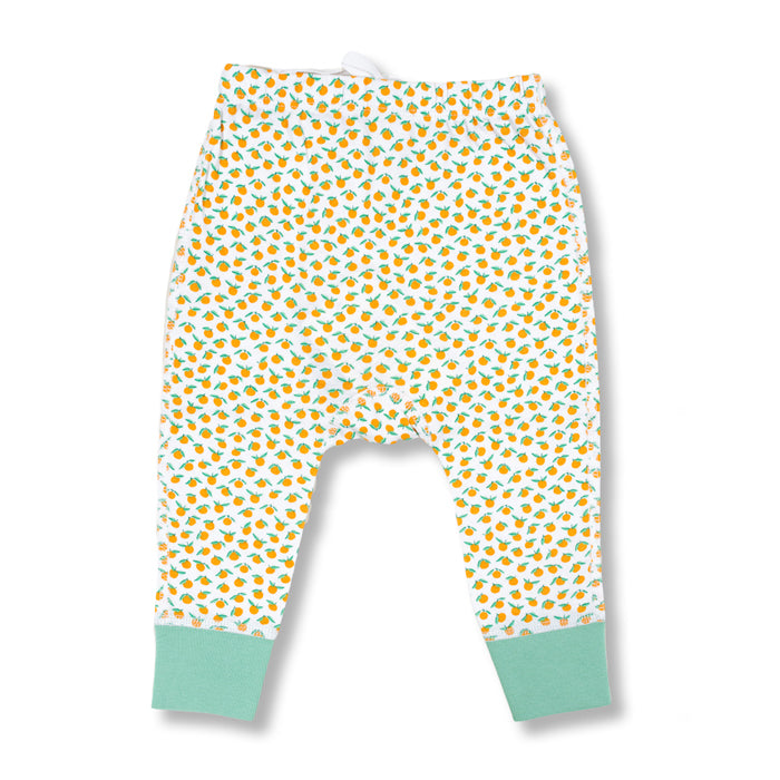 sapling baby organic cotton clothes clementine mandarin orange pants