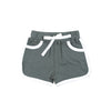 sapling baby organic cotton pebble grey baby shorts
