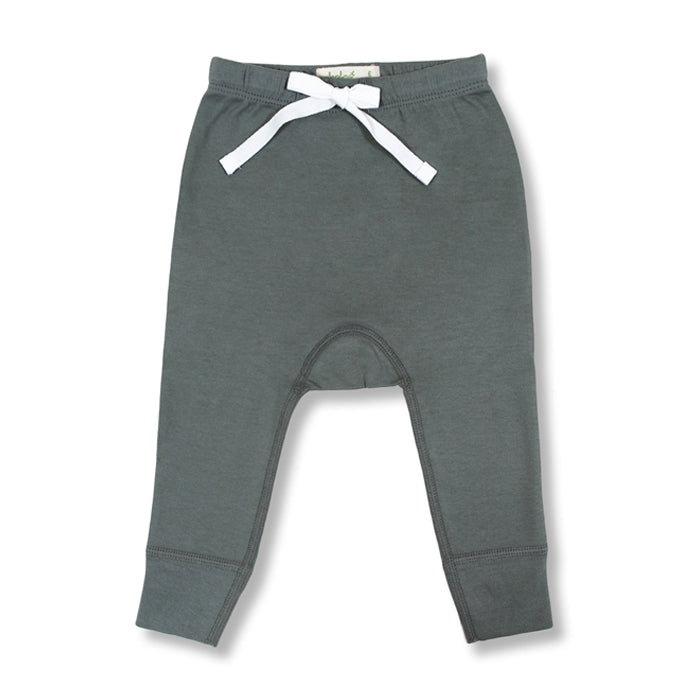 sapling baby organic cotton clothes pebble grey heart pants