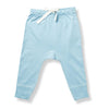 sapling baby unisex blue organic cotton heart pants