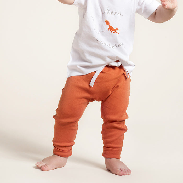 Fox Brown Organic Cotton Heart Pants