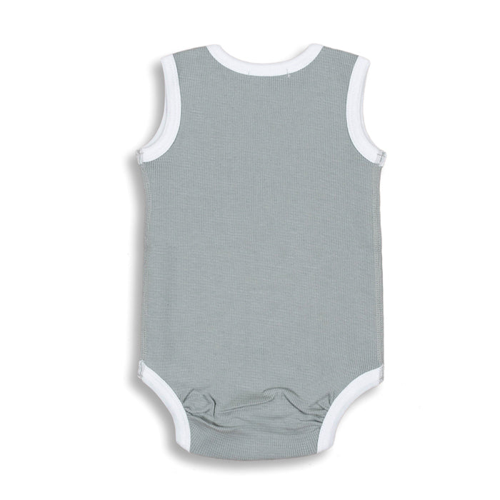 sapling organic cotton clothes for baby alpine grey waffle tank bodysuit
