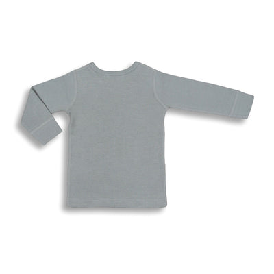 sapling organic cotton clothes for baby alpine grey waffle long sleeve tee