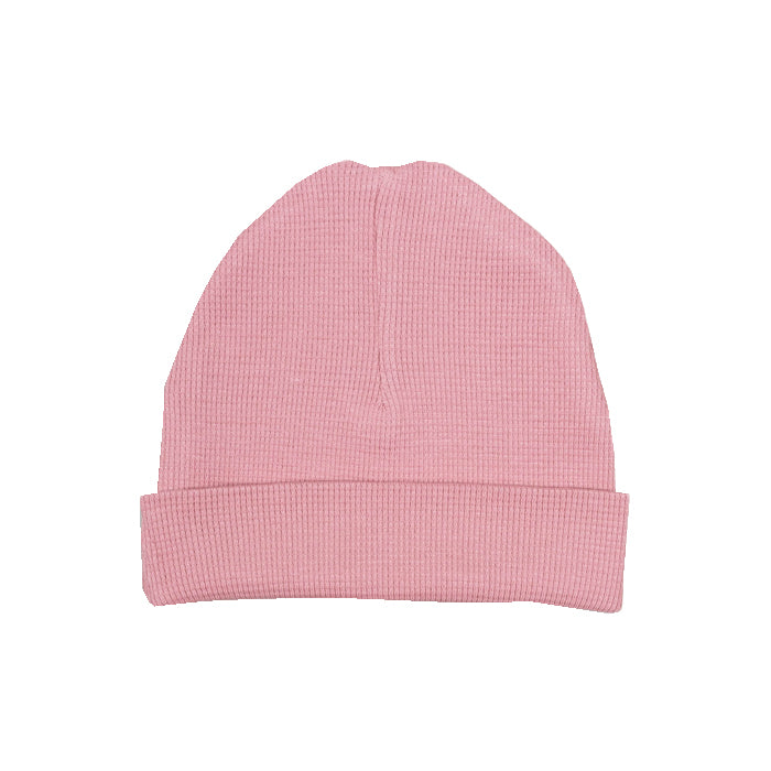 sapling organic cotton clothes for baby bramble pink waffle hat