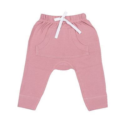 sapling organic cotton clothes for baby bramble pink waffle pants
