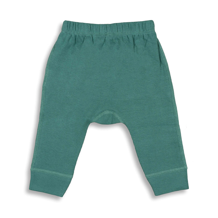 sapling organic cotton clothes for baby spruce green waffle pants