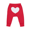 sapling organic cotton clothes for baby apple red heart pants