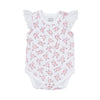 sapling organic cotton clothes for baby bramble pink lace bodysuit newborn