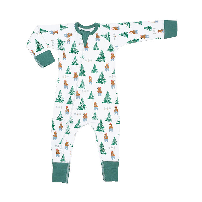 sapling organic cotton clothes for baby lumberjack zip romper newborn