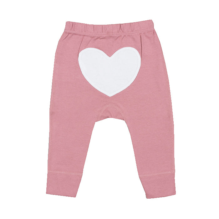 sapling organic cotton clothes for baby bramble pink heart pants newborn