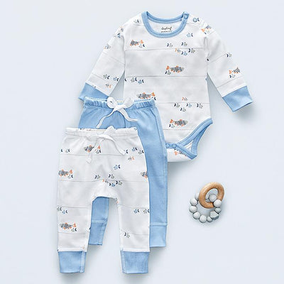 sapling water baby long sleeve bodysuit and pants baby gift set