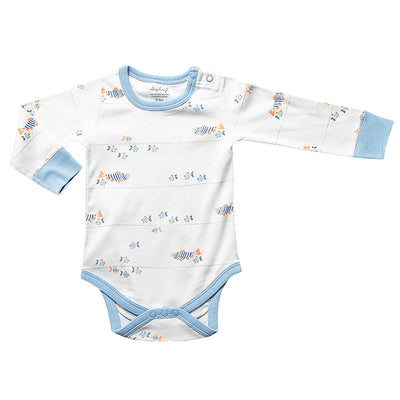 sapling water baby organic cotton long sleeve bodysuit for baby