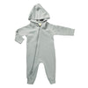 Winter Grey Organic Winter Zipsuit