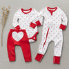 saplingchild organic cotton baby wear apple long sleeve bodysuit and red pants