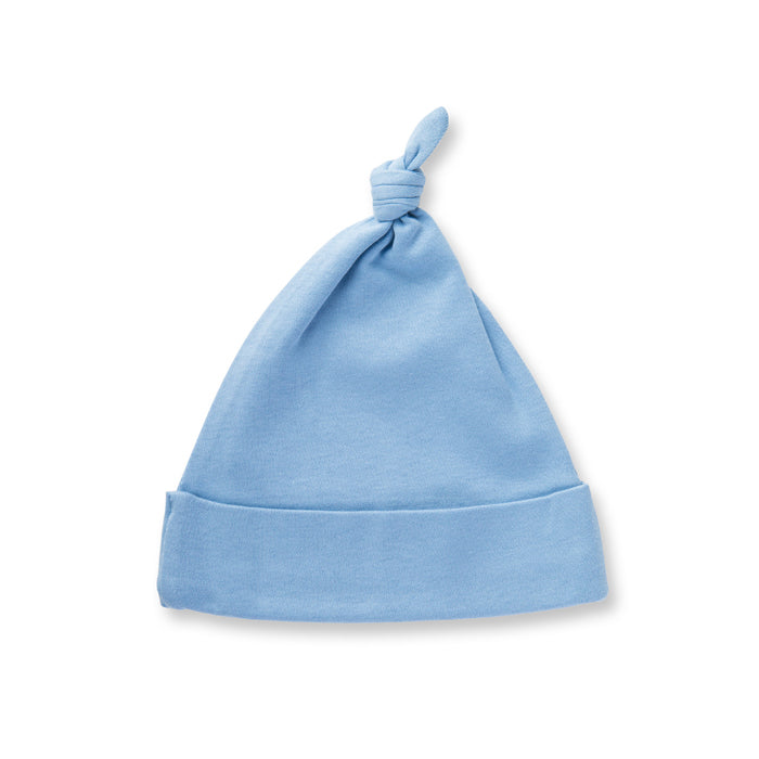 Little Boy Blue Organic Adjustable Knotted Hat