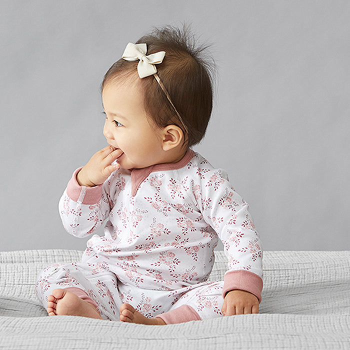 saplingchild organic cotton baby wear bramble zip romper babygirl clothes