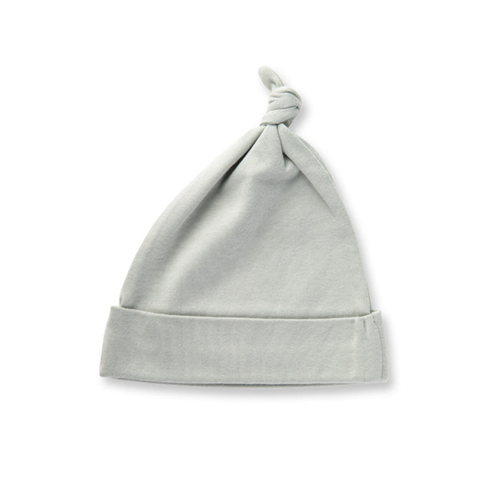 Dove Grey Organic Adjustable Knotted Hat
