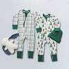 saplingchild organic cotton baby wear green zip rompers