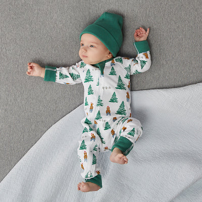saplingchild organic cotton baby wear spruce green hat