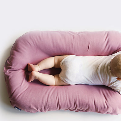 snuggle me organic bloom pink baby lounger