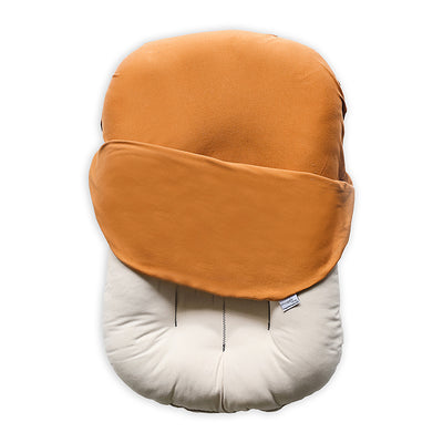 ember red orange organic cotton lounger bed for baby