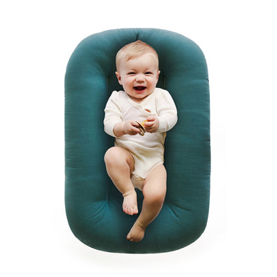 snuggle me organic lounger baby bare lounger moss green