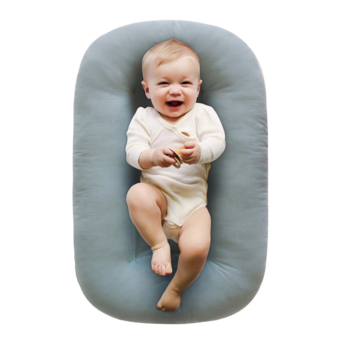 snuggle me organic lounger baby bare lounger slate