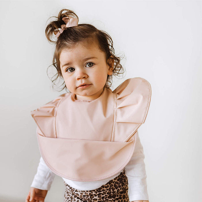 Snuggle Bib Waterproof in Nude