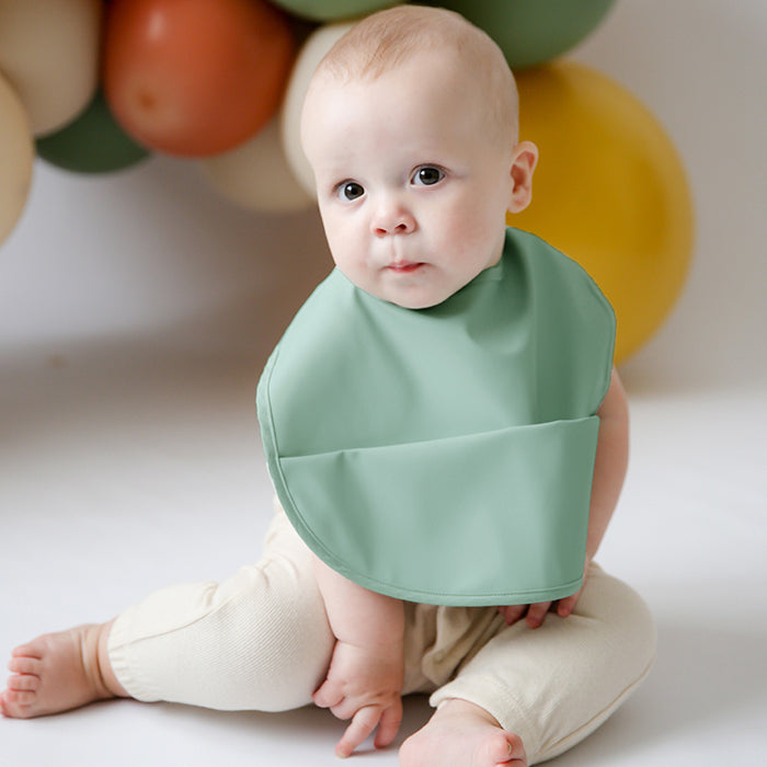 Snuggle Bib Waterproof in Sage