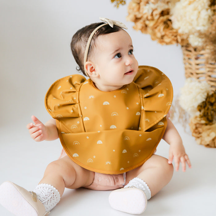Snuggle Bib Waterproof in Sunrise Frill
