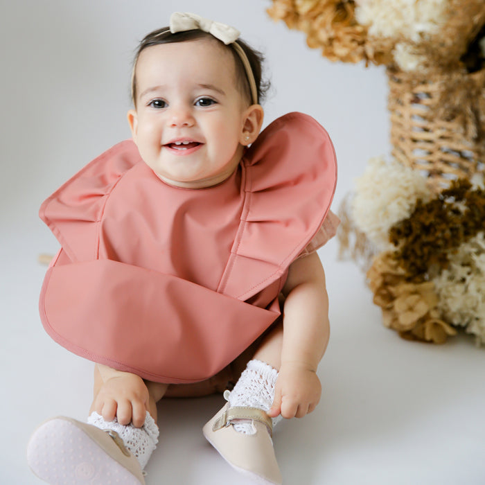 Snuggle Bib Waterproof in Terracotta