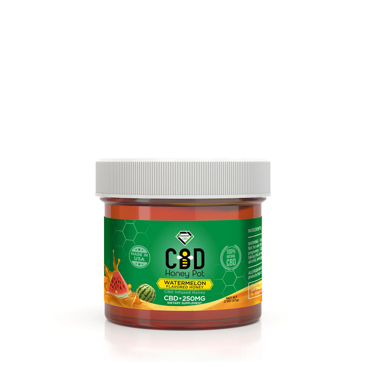 CBD Infused Honey Pot - Watermelon Flavor - 250mg