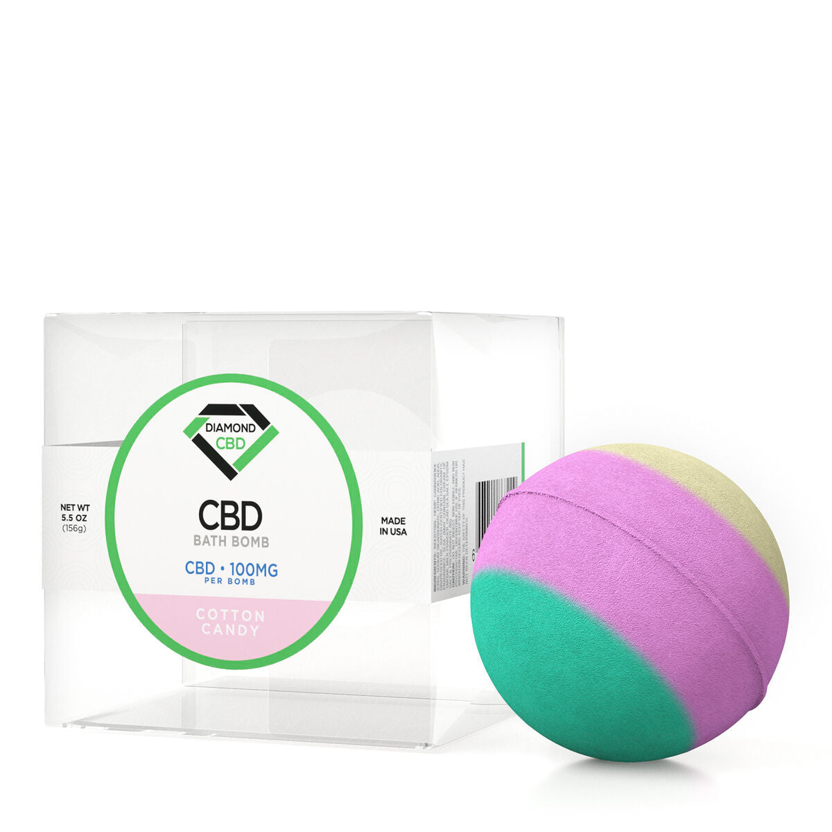 Diamond CBD Bath Bomb Cotton Candy - 100mg