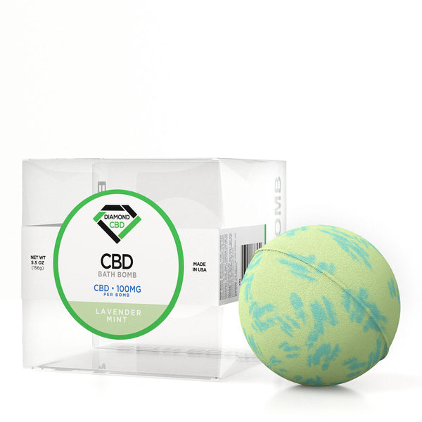 Diamond CBD Bath Bomb Lavender Mint - 100mg