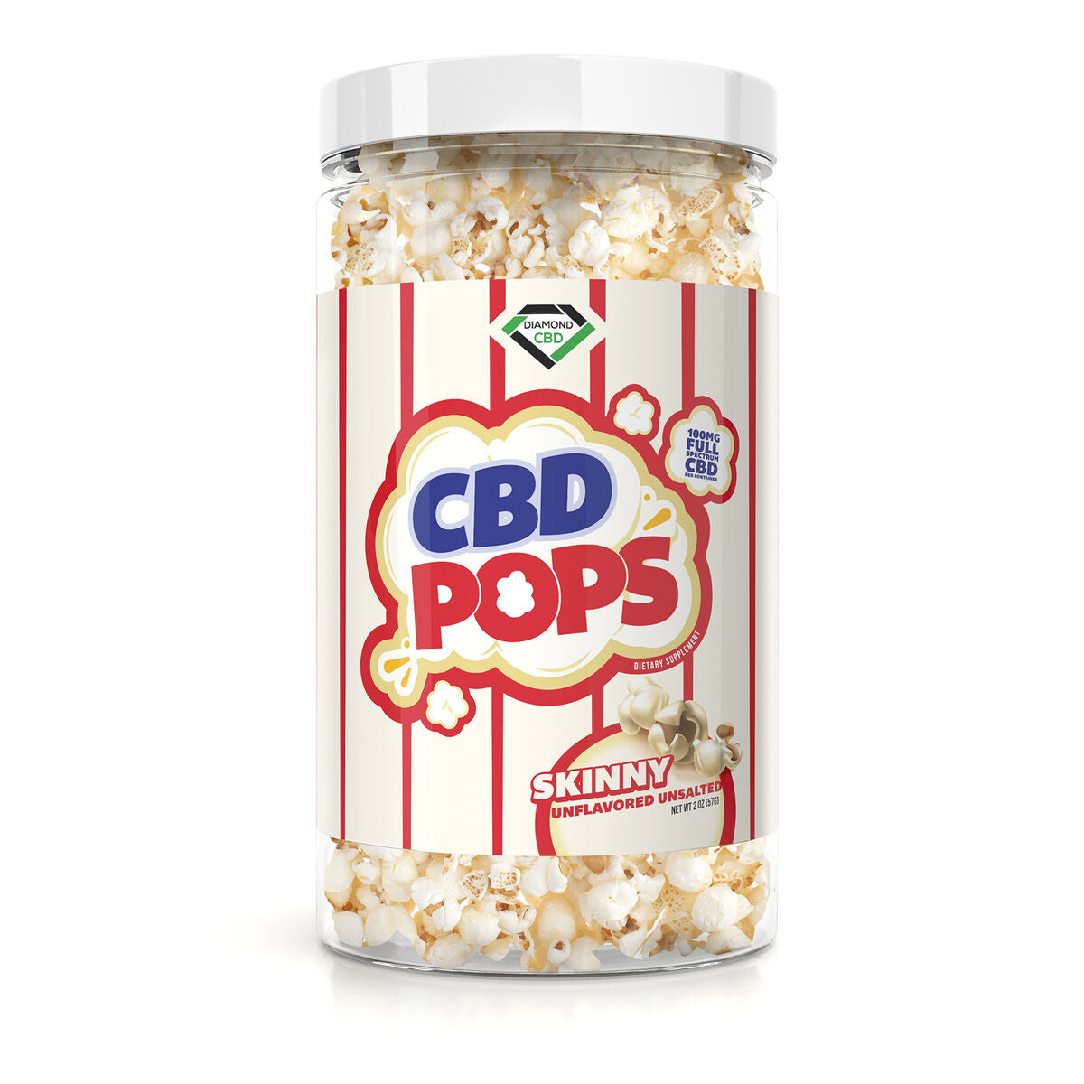 Diamond CBD Popcorn - Skinny - 100mg