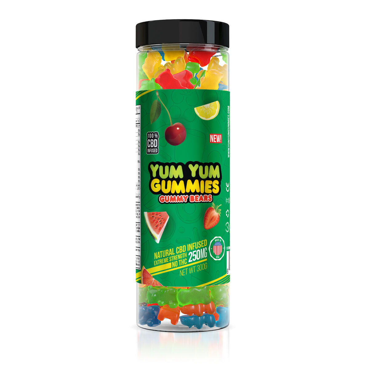 Yum Yum Gummies 250mg - CBD Infused Gummy Bears