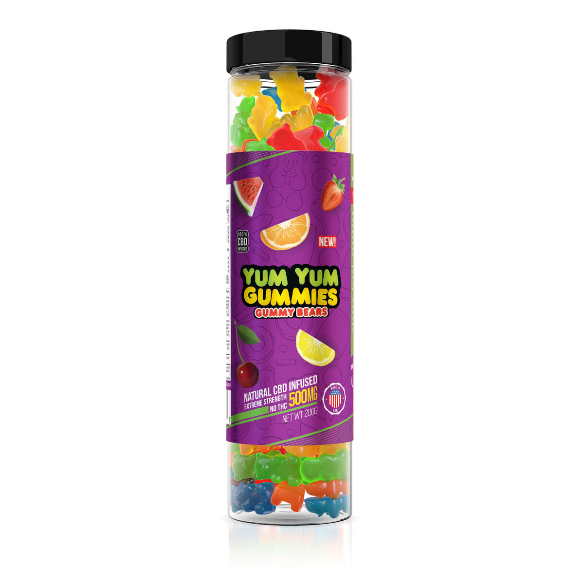 Yum Yum Gummies 500mg - CBD Infused Gummy Bears