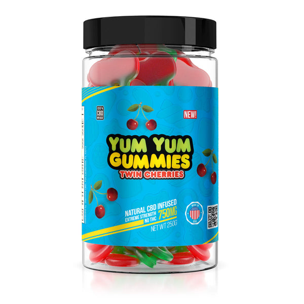 Yum Yum Gummies 750mg - CBD Infused Twin Cherries