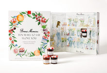"Load image into Gallery viewer, Bonne Maman® ""Ten Ways to say I Love you"" gift with 10 mini jars of preserves and honey"