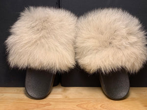"Fox Fur Slides ""OFF White"""