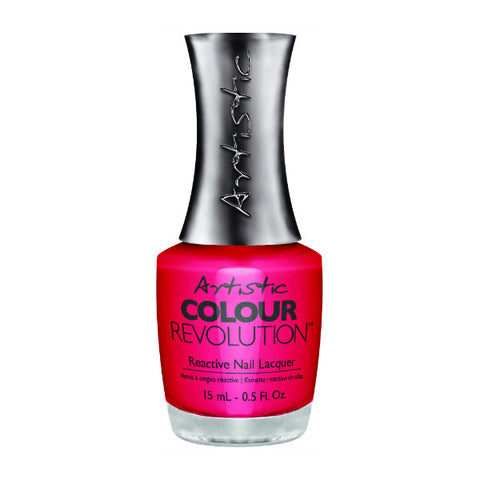 Artistic Colour Revolution Reactive Nail Lacquer - Owned (Hot Pink Creme) - 63