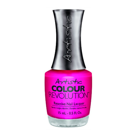 Artistic Colour Revolution Reactive Nail Lacquer - Manic (Hot Fuchsia Creme) - 64