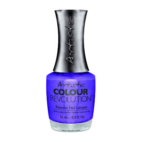 Artistic Colour Revolution Reactive Nail Lacquer - Caviar For Breakfast (Blue Violet Shimmer) - 85