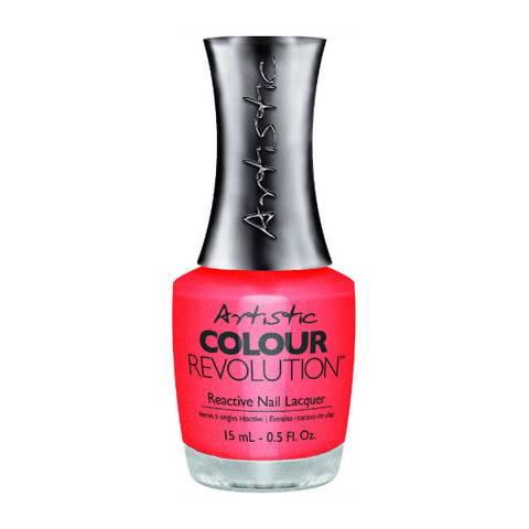 Artistic Colour Revolution Reactive Nail Lacquer - Haute Cout-Orange (Dark Coral Shimmer) - 87
